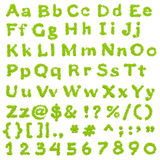 Complete Eco Green Alphabet. Handwritten Calligraphy royalty free illustration