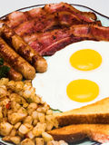 Complete Egg Breakfast (close portrait view) Stock Photos