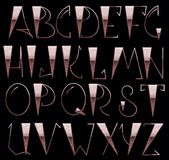Complete English Alphabet. Hand Font Royalty Free Stock Photography