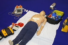 Emergency dummy equipment Royalty Free Stock Photo