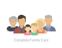 Complete family care Stock Photos
