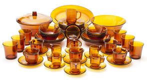 Complete Glass Dish Set Stock Photography