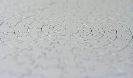 Complete grey jigsaw Royalty Free Stock Image