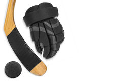 Complete hockey accessories Stock Image