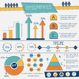 Complete Infographics layout for business. Royalty Free Stock Photo