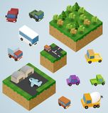 Complete Isometric Tiles series Stock Photo