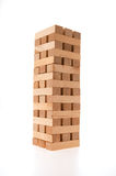 Complete jenga tower Royalty Free Stock Images