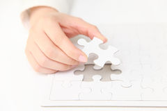 Complete jigsaw puzzle  Royalty Free Stock Photography