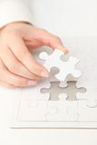 Complete jigsaw puzzle  Stock Photography