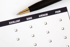 Complete la encuesta sobre el feedback Foto de archivo libre de regalías