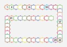 Complete los números que falta a 50 , escriba los números que falta Fotos de archivo libres de regalías