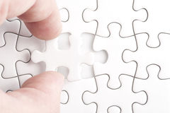 Complete missing jigsaw puzzle Stock Images