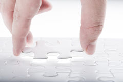Complete missing jigsaw puzzle Royalty Free Stock Image