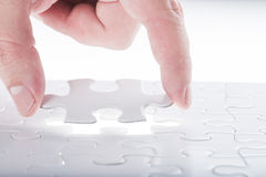 Complete missing jigsaw puzzle Royalty Free Stock Photography