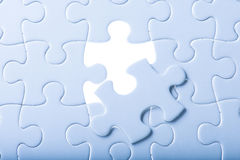 Complete missing jigsaw puzzle Royalty Free Stock Images