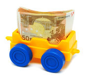 Complete money wagon Stock Image