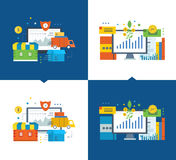 Complete order cycle in the online store. Investment fund market. Stock Image