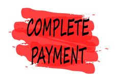 Complete payment banner Stock Image