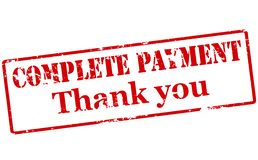 Complete payment. Rubber stamp with text complete payment inside,  illustration Royalty Free Stock Photography
