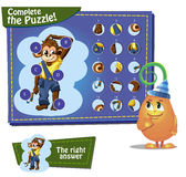 Complete the pazzle. Visual Game for children. Task: complete the pazzle Royalty Free Stock Images