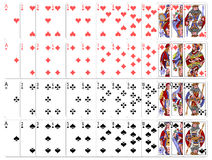 Complete playing card game set Royalty Free Stock Photo