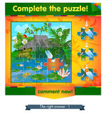 Complete the puzzle insects 2. Visual game for children and adults. Task complete the puzzle Royalty Free Stock Image