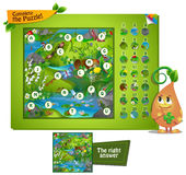 Complete the puzzle insects. Visual game for children and adults. Task complete the puzzle Royalty Free Stock Image