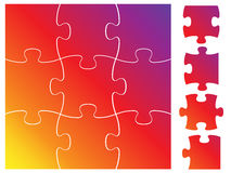 Complete puzzle / jigsaw set Royalty Free Stock Image