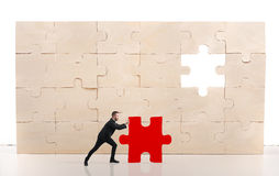 Complete a puzzle with missing piece Royalty Free Stock Photography