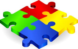 Complete Puzzle on simple Background.  Stock Photography