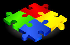 Complete Puzzle on simple Background.  Royalty Free Stock Photos