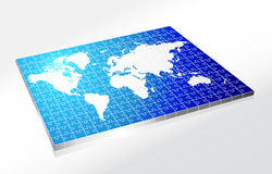 Complete Puzzle of World Map Royalty Free Stock Photography