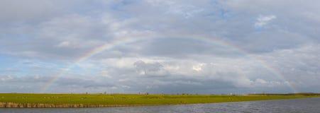 Complete semicircle rainbow Stock Image