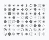 Complete set of 80 black stars and symbols set Stock Photography
