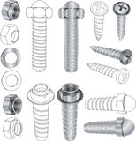 The complete set bolts and nuts Clip-Art Royalty Free Stock Images
