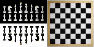 Complete set of chess pieces Royalty Free Stock Photo