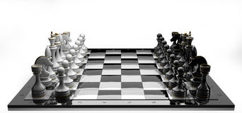 Complete set of chess pieces Royalty Free Stock Photography