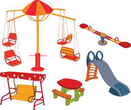The complete set a children's swing. For children's park Royalty Free Stock Photography