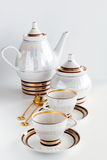 Complete set of coffee service Stock Image