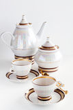 Complete set of coffee service Royalty Free Stock Images