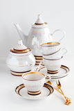 Complete set of coffee service. On a white background Stock Photography
