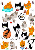 The complete set of different cheerful kittens. Similar in a portfolio Stock Photos