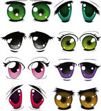 The complete set of the drawn eyes Stock Photography