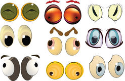 The complete set of the drawn eyes. For animals royalty free illustration