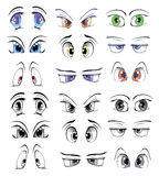 The complete set of the drawn eyes Royalty Free Stock Photo