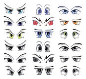 The complete set of the drawn eyes Royalty Free Stock Photos