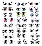 Complete Set of the Drawn Eyes for you Design Royalty Free Stock Photo