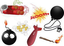 The complete set an explosive Stock Images