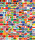 Complete set of Flags Stock Photo