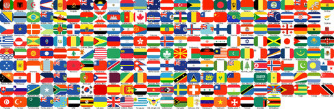Complete set of Flags Royalty Free Stock Photo